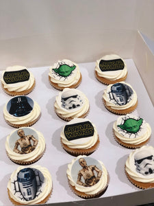 12 Regular Star Wars Cupcakes