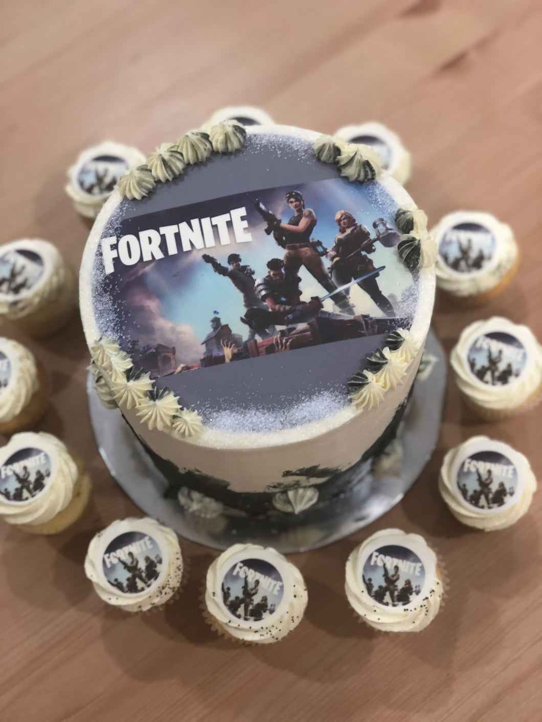 Fortnite Cake and Cupcake Package