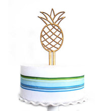 Load image into Gallery viewer, Wood Pineapple Cake Topper