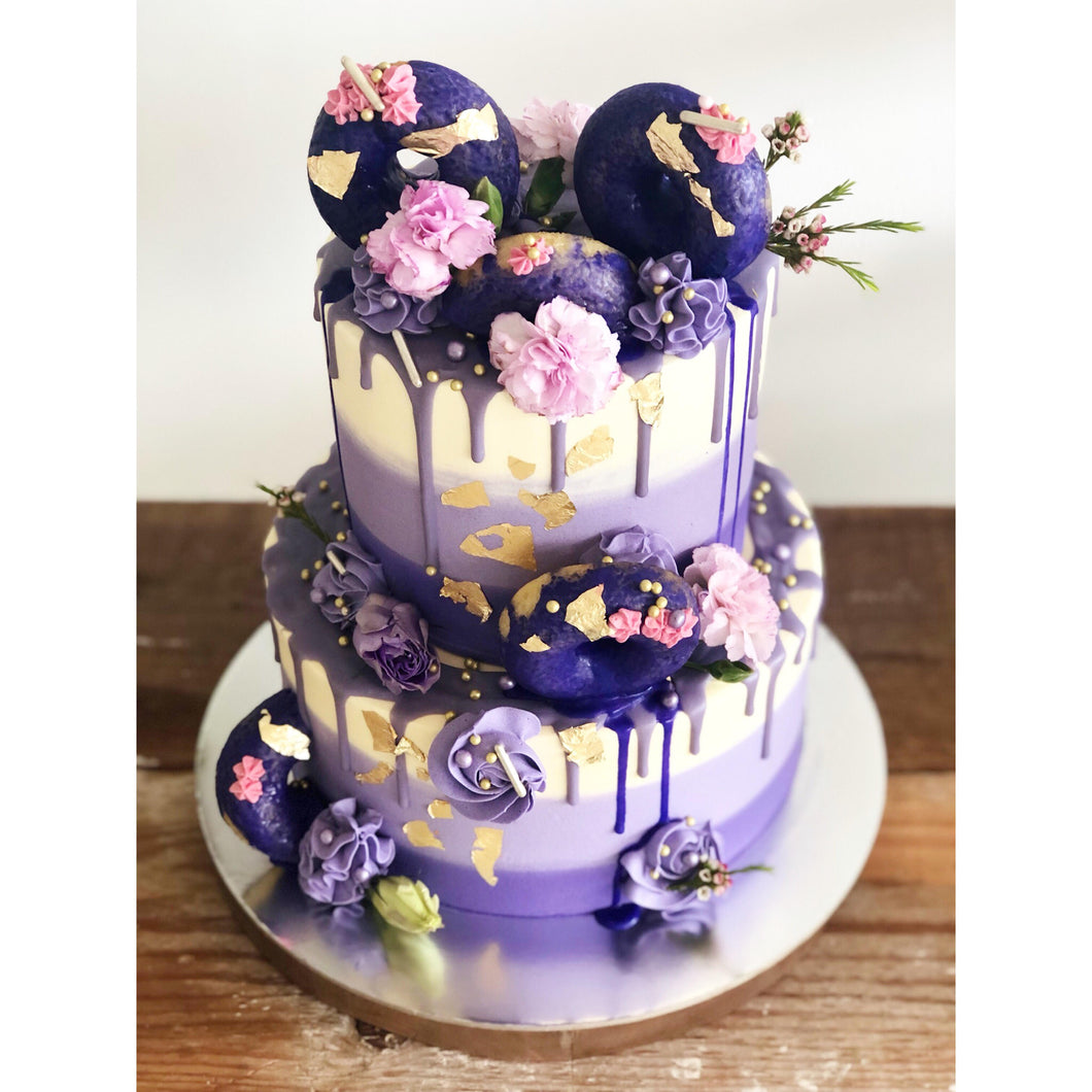 2 Tier (purple) Donut Emma Cake