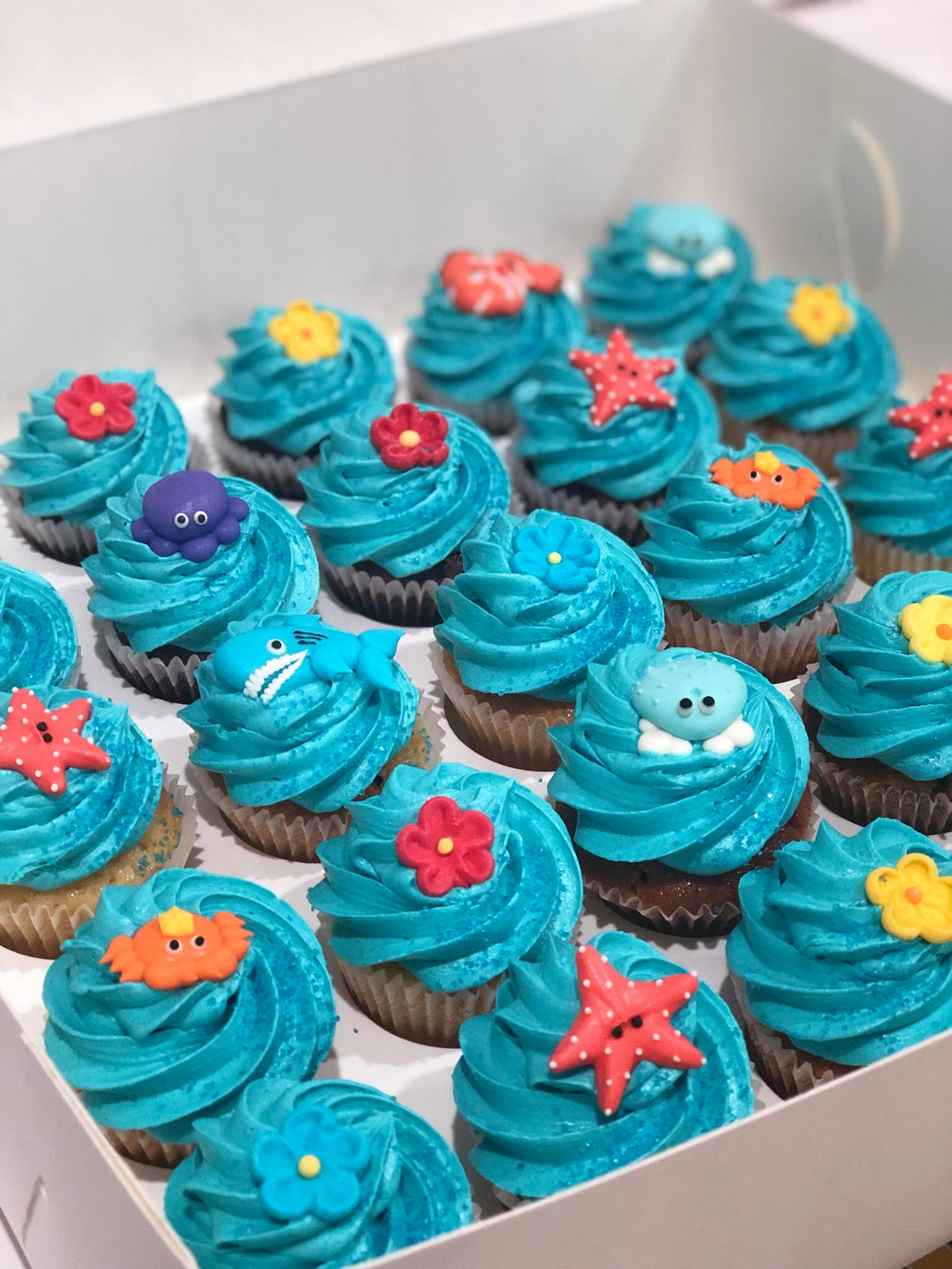 24 Mini Under The Sea Cupcakes