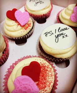 6 Regular P.S I Love You Cupcakes