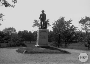 Font-Facing VIew of the Old North Bridge Minuteman Monument and Inscription Concord, Massachusetts 1909