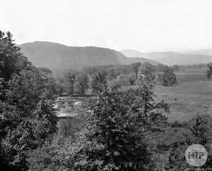 Overhead View of Valley Intervale, New Hampshire