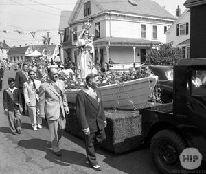 Procession of a Portuguese Catholic Parade in Gloucester, Massachusetts