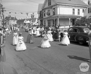 Parade of the Fleet Procession of Young Girls in Gloucester's Annual St. Peter's Fiesta, Massachusetts