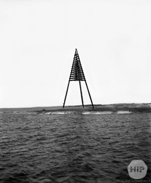 Hazard Marker in Waters of Gloucester, Massachusetts