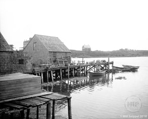 Decrepit Water Shack and Boats Cape Ann