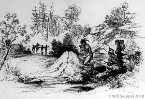 White Man at Indian Spring