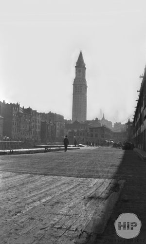 1912 customs house from pier Boston.
