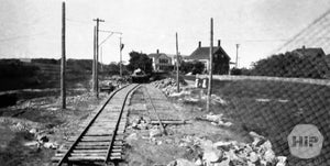 Railroad construction at York, Maine.