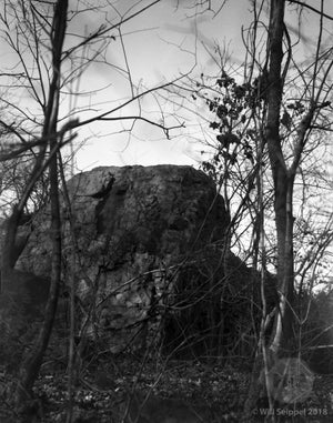 "A large rock in the Woods Named ""Washington Rock NY"""