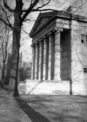 Sideview of Whig Hall Princeton University 1930's