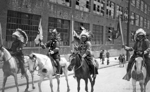 Parade Four Native Americans atop Horses
