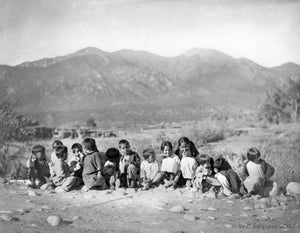 Southwest Native Children Dressed as English