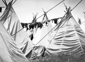 Tourist Made Teepee Camp for Native Americans