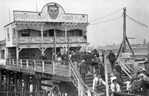 Passengers Disembarking to Steeplechase Pier to Coney Island