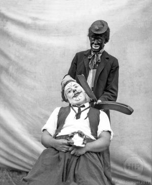 Circus or Wild West Clowns with the Shaving Gag