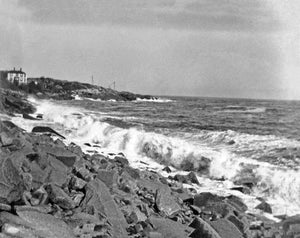 Waves Crashing Against the Gloucester Shore
