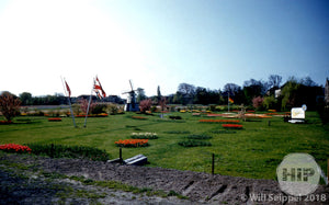 Flower Garden and European Flags