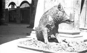"""Il Porcellino"" Bronze Fountain Statue of a Boar in Florence, Italy 1950s"