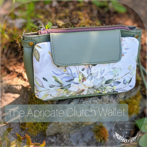 Apricate Clutch Wallet PDF Pattern with Videos