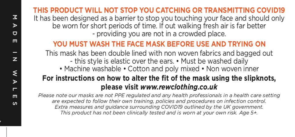 COVID 19 FACE MASK GUIDE LINES