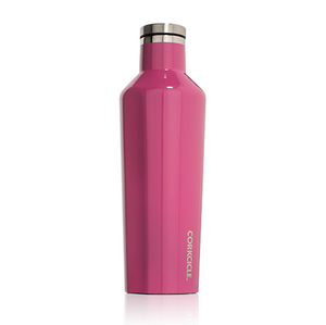 keep your drinks cool in this hot pink flask