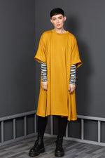 mustard Autumn dress