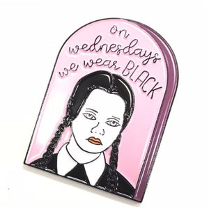 Wednesday Funny Pink Badge