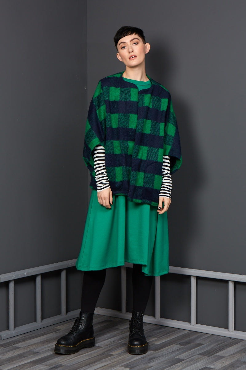Stunning green winter dress rew clothing