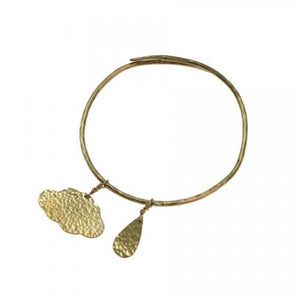 BRASS CLOUD BANGLE