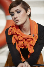 Orange stylish winter scarf