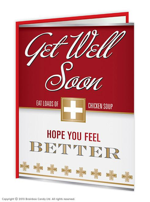 red 'get well soon' card