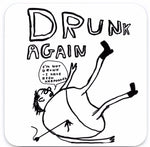 funny David shrigley drunk coaster gift