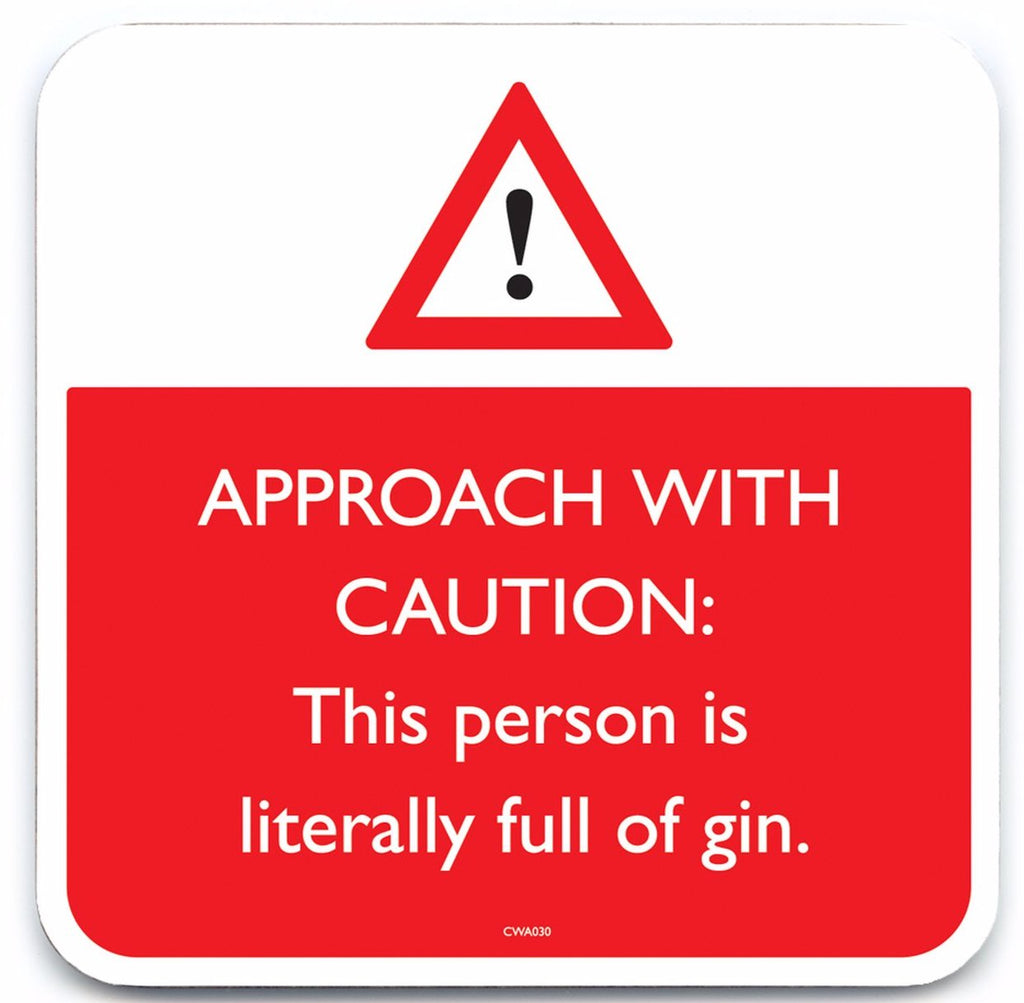 funny full of gin quote coaster