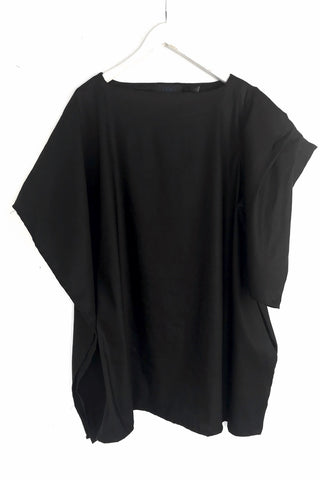 Diana - Black Linen Tunic Top