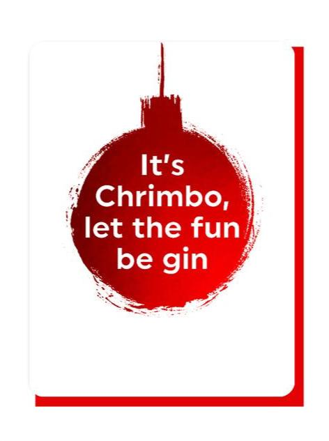 Let The Fun Be Gin - Foiled Christmas Card