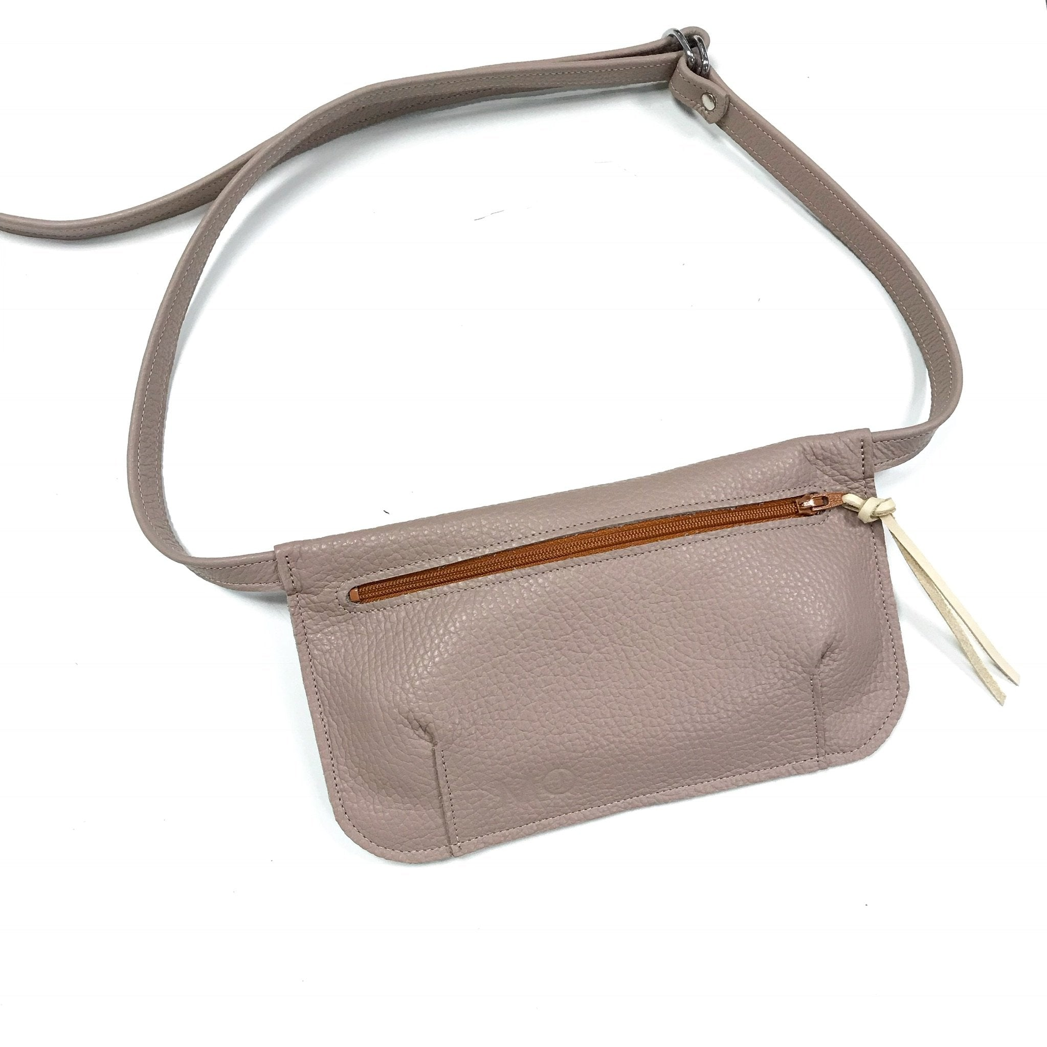 pink unusual bum bag zip