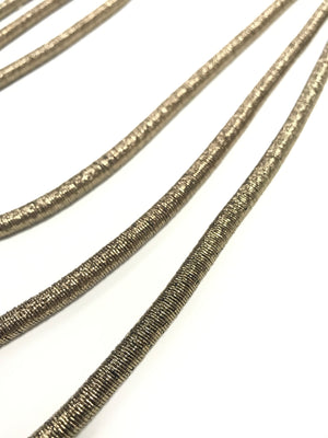 Iola - Long Metallic Rope Necklace