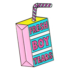 fresh boy tears pin badge funny cute gifts Rew Clothing