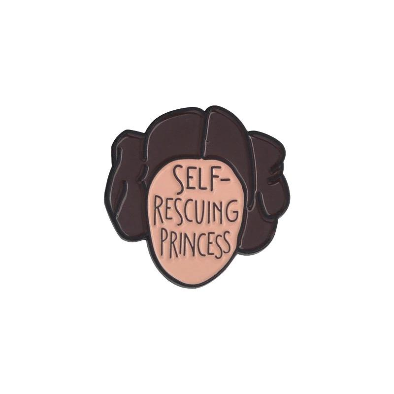 Self Rescuing Princess - Pin Badge