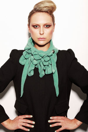 Green blue scarf as seen in You Magazine