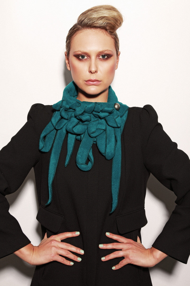 Petrol green ladies scarf