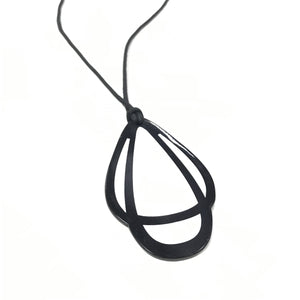 Lily - Long Monochrome Pendant Necklace
