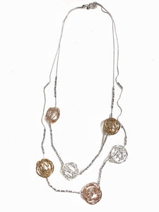 Olivia - Bold Metals Long Necklace