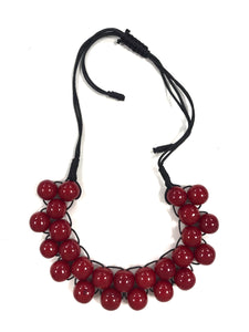 Cherry - Multi bead Necklace