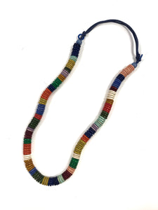 Rainbow - Wooden Beaded Necklace.