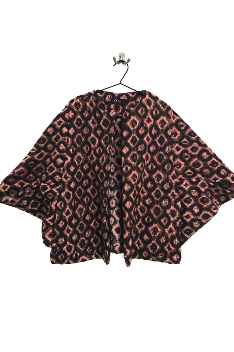 dusty pink and black diamond kimono