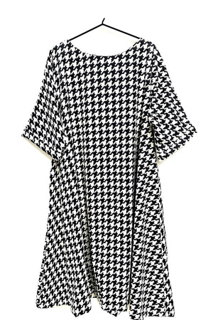 Zana Dress - Black and White Monochromatic Range